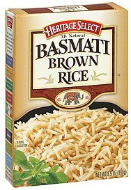 basmati brown rice Heritage Select Nutrition info