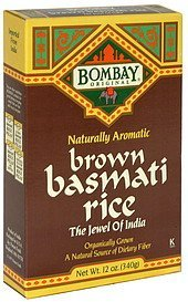 basmati rice brown Bombay Original Nutrition info