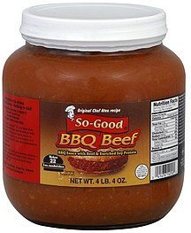 bbq beef So-Good Nutrition info