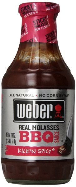 bbq sauce kick'n spicy Weber Nutrition info