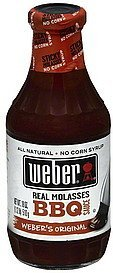 bbq sauce real molasses, 's original Weber Nutrition info