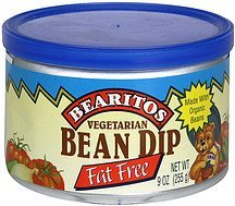 bean dip vegetarian, fat free Bearitos Nutrition info