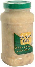 bean soup with ham Carryout Cafe Nutrition info