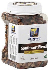 beans 100% organic, southwest blend Urban Pantry Essentials Nutrition info
