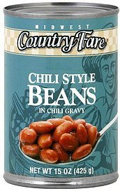 beans chili style in chili gravy Midwest Country Fare Nutrition info