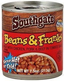 beans & franks Southgate Nutrition info