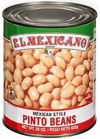 beans mexican style pinto El Mexicano Nutrition info
