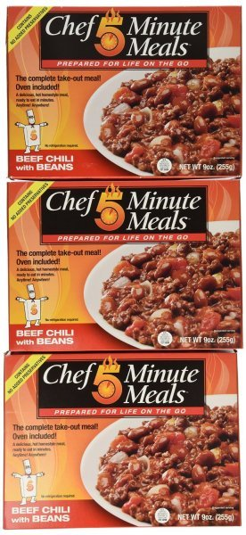beef chili with beans Chef 5 Minute Meals Nutrition info