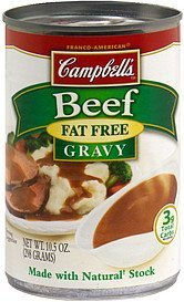 beef gravy fat free Campbells Nutrition info