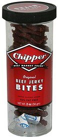 beef jerky bites original Chipper Nutrition info