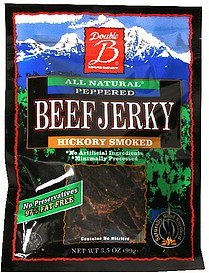 beef jerky hickory smoked Double B Nutrition info