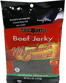 beef jerky mandarin orange Golden Island Nutrition info
