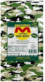 beef jerky mild Middleswarth Nutrition info