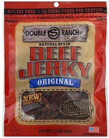 beef jerky natural style, original Double S Ranch Nutrition info