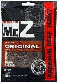 beef jerky premium cuts, original Mr. Z Nutrition info