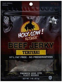 beef jerky teriyaki Holy Cow! Kosher Nutrition info