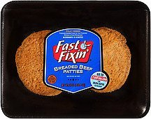beef patties breaded Fast Fixin' Nutrition info