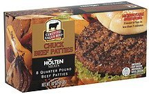 beef patties chuck Holten Meats Nutrition info