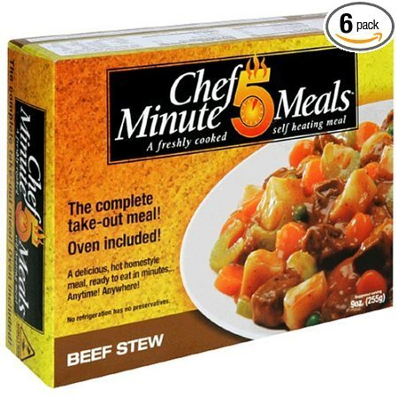 beef stew Chef 5 Minute Meals Nutrition info