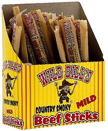 beef sticks country smoky mild Wild Bills Nutrition info