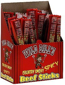 beef sticks country smoky spicy Wild Bills Nutrition info