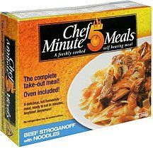 beef stroganoff with noodles Chef 5 Minute Meals Nutrition info