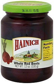 beets whole, red Hainich Nutrition info