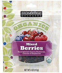 berries mixed, dried Stoneridge Orchards Nutrition info