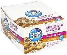 between meal snack bars crunchy oat & almond 3-Hour Diet Nutrition info