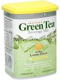 beverage mix green tea, lemon flavor Tea Tech Nutrition info