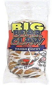 big bear claw original danish pastry Cloverhill Bakery Nutrition info