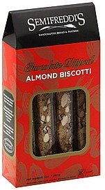 biscotti almond, chocolate dipped Semifreddis Nutrition info