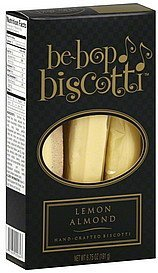 biscotti lemon almond Be-Bop Biscotti Nutrition info