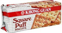 biscuits square puff Khong Guan Nutrition info