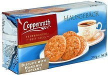 biscuits with hazelnut crocant Coppenrath Nutrition info