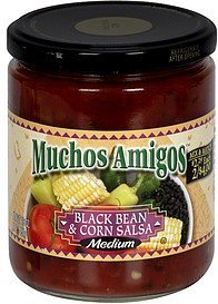 black bean & corn salsa medium, pre-priced Muchos Amigos Nutrition info