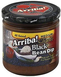 black bean dip chipotle, medium Arriba! Nutrition info