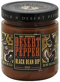 black bean dip spicy Desert Pepper Nutrition info