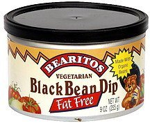 black bean dip vegetarian, fat free Bearitos Nutrition info