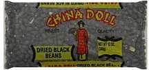 black beans dried China Doll Nutrition info