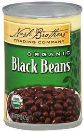 black beans organic Nash Brothers Trading Company Nutrition info