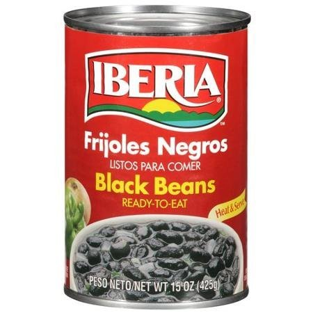 black beans ready-to-eat IBERIA Nutrition info