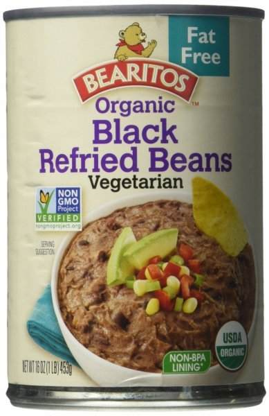 black beans refried fat free organic Bearitos Nutrition info