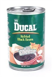 black beans refried, with cheese Ducal Nutrition info