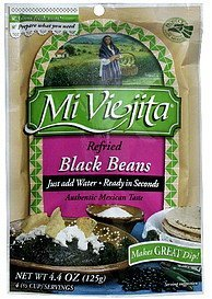 black beans refried Mi Viejita Nutrition info