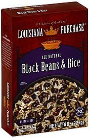 black beans & rice Louisiana Purchase Nutrition info