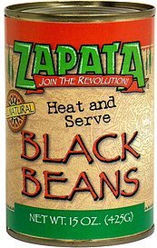 black beans Zapata Nutrition info