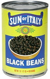 black beans Sun of Italy Nutrition info