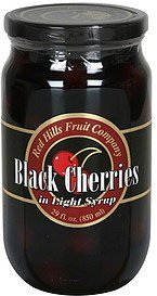 black cherries in light syrup Red Hills Fruit Company Nutrition info