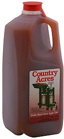 black cherry apple cider quality Country Acres Nutrition info
